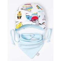 Комплект детский (шапка,снуд), цвет светло-голубой, размер 41-44 см (6-9мес.)