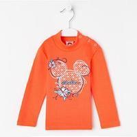 Водолазка для девочки, цвет оранжевый, рост 92 см