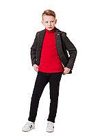 Детский для мальчиков осенний трикотажный серый деловой жакет Bell Bimbo 182162 серый 134-68р.