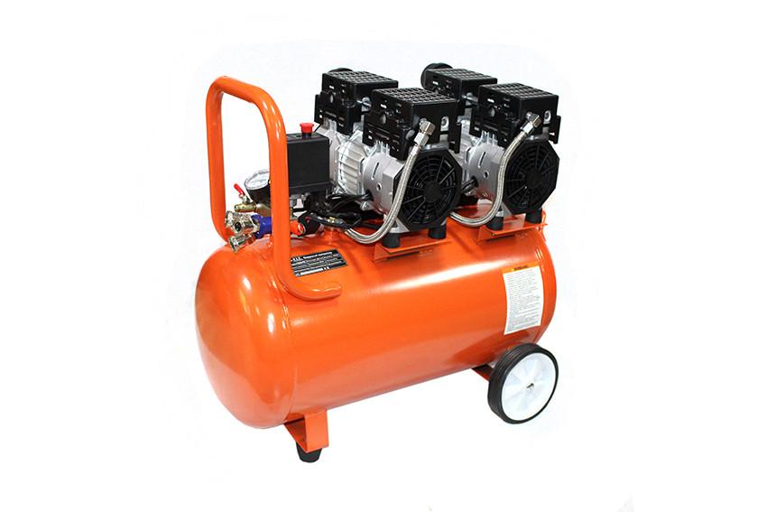 Воздушный бесшумный, безмасленный компрессор PIT 2-x цилиндр. 65 L 3,6 kW