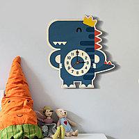 """Настенные детские часы """"Синий динозавр"""""""