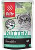 Влажный корм для котят Blitz Kitten индейка с потрошками