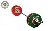 Штанга IWF жен. 185 кг трениров. черные, фото 1
