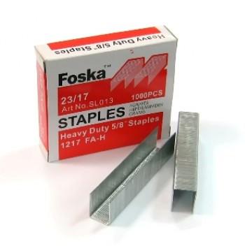 Скобы для степлера №23/17, 1-150л, 1000шт, оцинкованные Foska