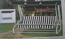 Качели садовые раскладная кровать