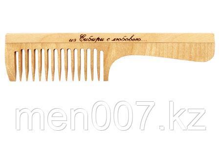 Деревянная расческа с ручкой