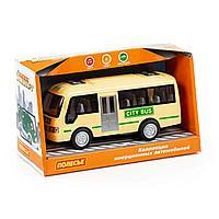 Городской автобус автомобиль инерционный со светом и звуком в коробке