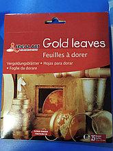 Поталь для золочения в листах 15 x 15 см 25 листов, золотой