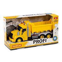 Профи автомобиль-самосвал инерционный со светом и звуком жёлтый в коробке