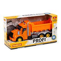 Профи автомобиль-самосвал инерционный со светом и звуком оранжевый в коробке