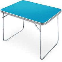 Стол туристический Складной влагостойкий ССТ-5/4 в сумке переноске, столешница голубая