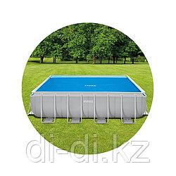 Тент солнечный прозрачный для прямоугольного бассейна 400х200см Intex 29028