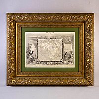 Антикварная карта. гравюра «Afrique»