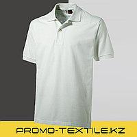 Футболка поло однотонная | Белая поло футболка (US BASIC)