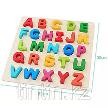 Рамка-вкладыш - Английский Алфавит, 30х30х2см., фото 3
