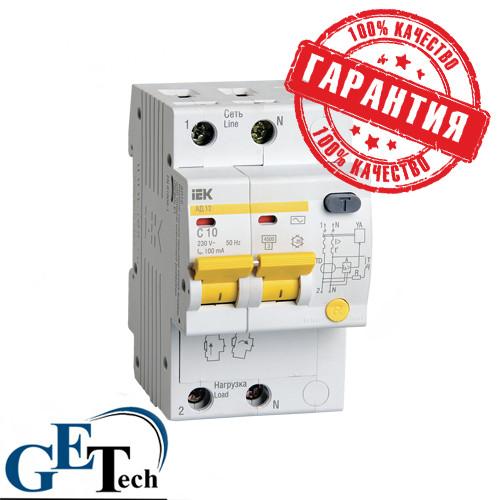 УЗО АД 12 2Р 16А / Дифференциальный автоматический выключатель АД12 2Р 16А IEK