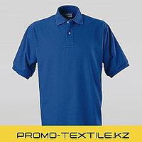 Поло футболка однотонная   Синяя футболка поло
