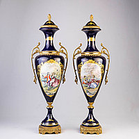 Парадные вазы в дворцовом стиле. Фарфоровая мануфактура ACF.
