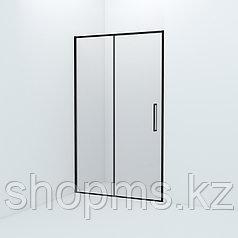 Душевые двери Slide SLI6BS2i69, черный ал. проф., IDDIS (1200*1950)