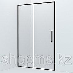 Душевые двери Slide SLI6BS3i69 черный ал. проф., IDDIS (1300x1950)
