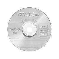 Диск DVD+R, Verbatim, (43500) 4.7GB, 16х, 25шт в упаковке, Незаписанный