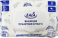Влажная туалетная бумага Zala 100 шт