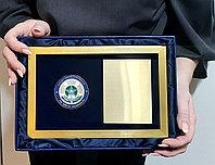 Коробка из экокожи и прозрачной крышкой