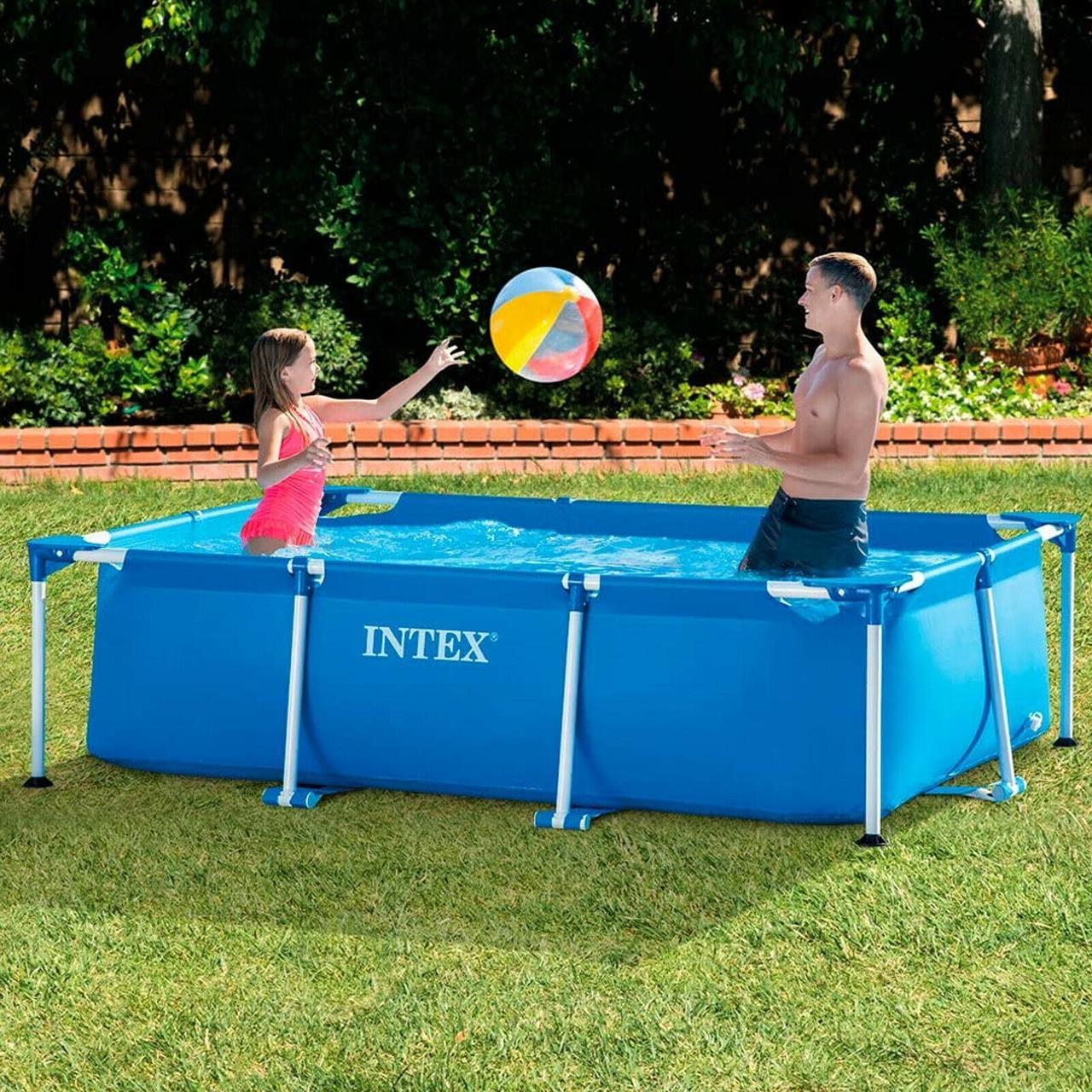 Каркасный бассейн прямоугольный Intex 220*150*60 см 28270NP