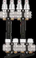 "Коллектор S4 1""x3/4"" EK для теплого пола с расходомерами Varmega - 4 выходами"