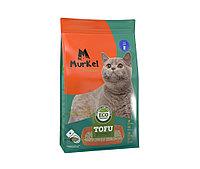 С ароматом молока, 6л., тофу комкующийся соевый наполнитель Murkel