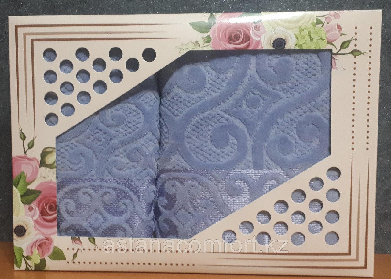 Набор полотенец для лица и тела в подарочной коробке.