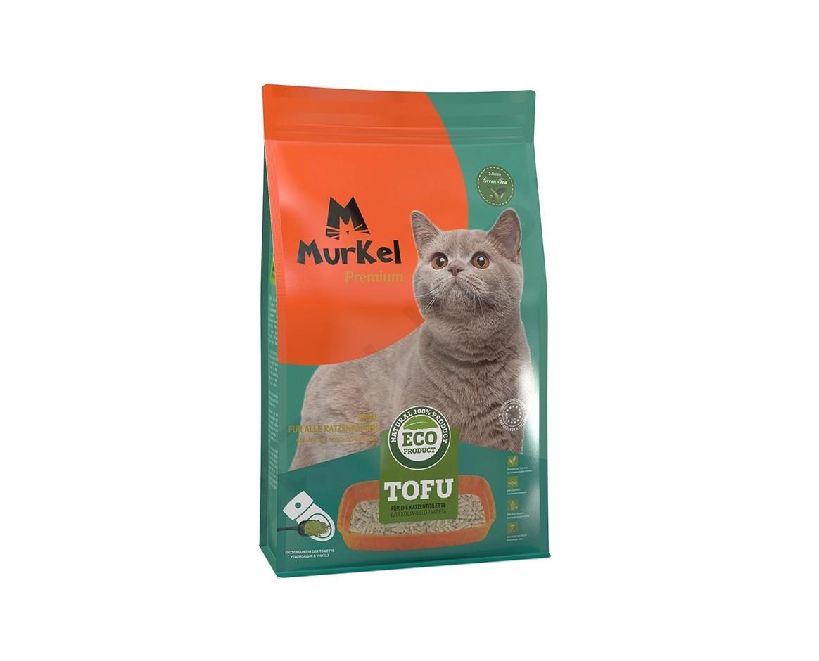 С ароматом зеленого чая, 6л., тофу комкующийся соевый наполнитель Murkel