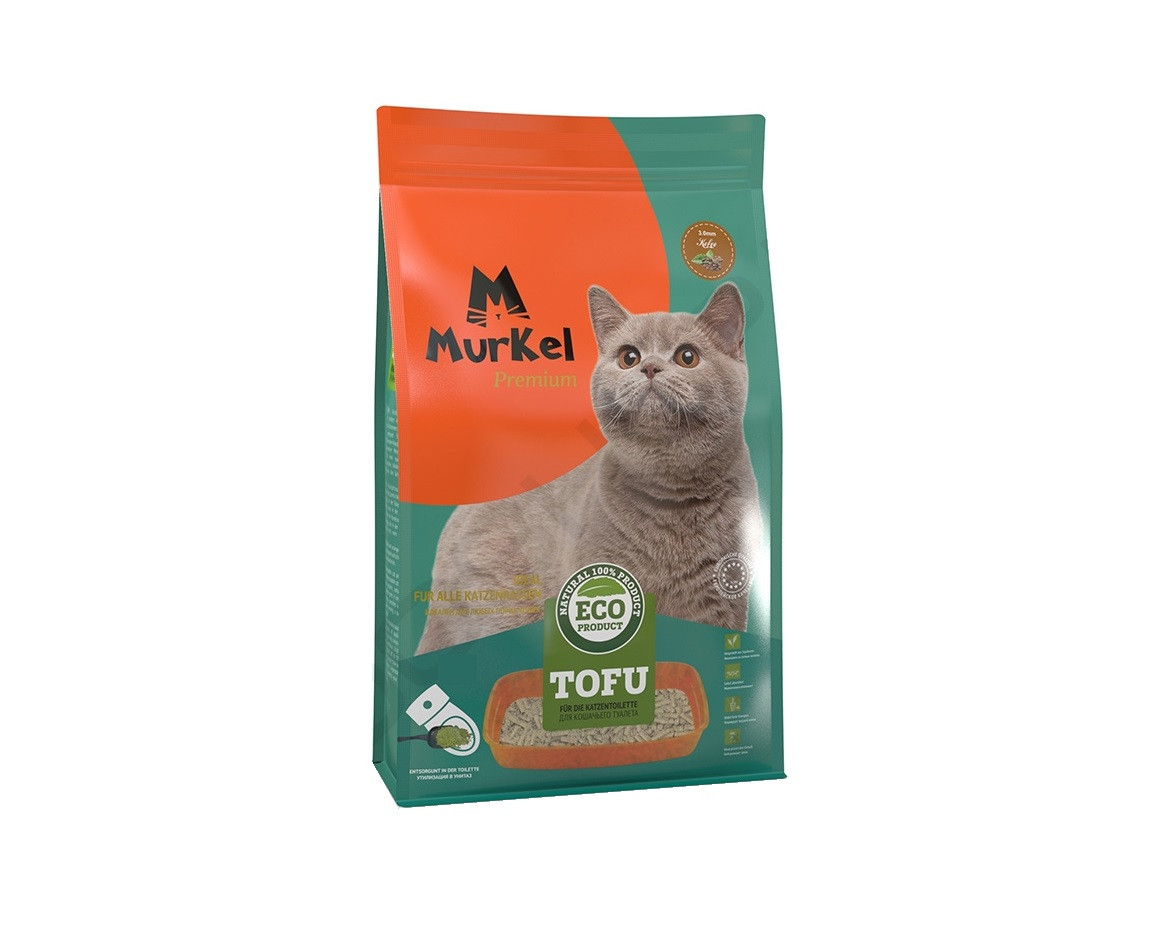 С ароматом персика, 12л., тофу комкующийся соевый наполнитель Murkel