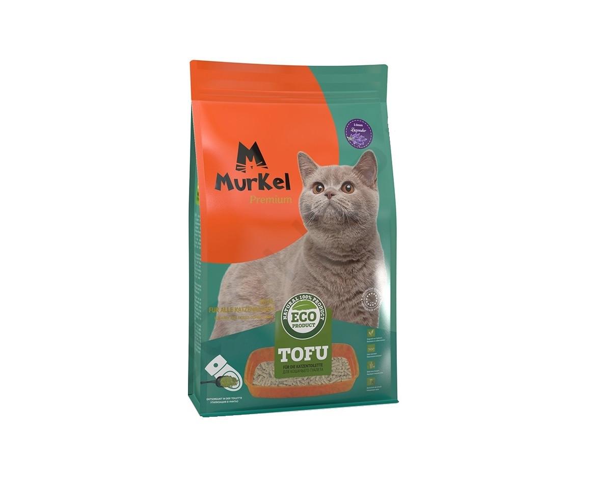 С ароматом лаванды, 12л., тофу комкующийся соевый наполнитель Murkel