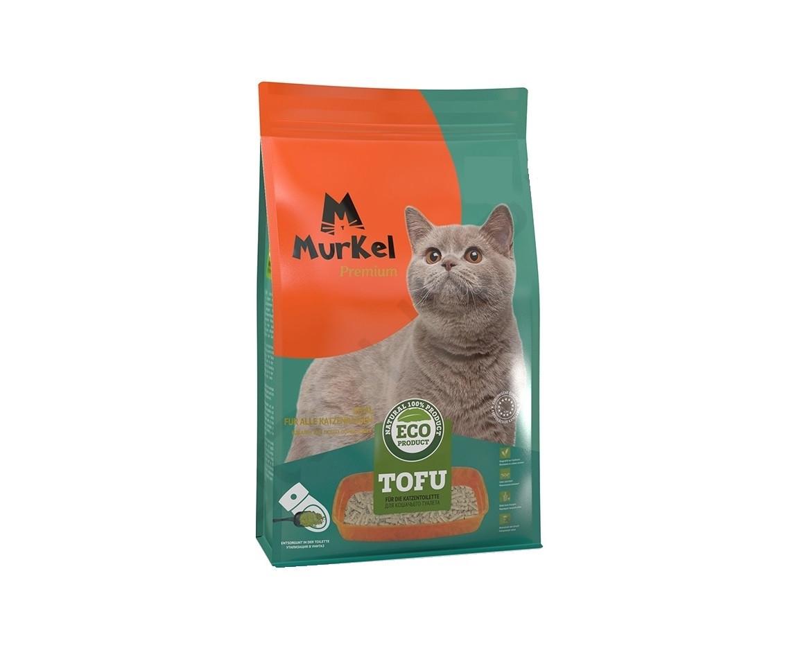 Без запаха, 12л., тофу комкующийся соевый наполнитель Murkel