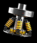 Тренажер для отработки ударов - черный AB5311, фото 3