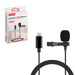 Микрофон петличка, Gl-120, Lightning, Black