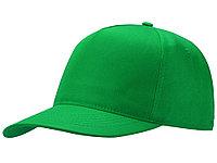 Бейсболка Poly 5-ти панельная, зеленый
