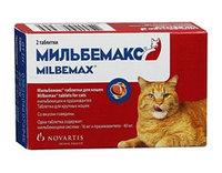 Мильбемакс антигельминтный препарат для кошек 1т