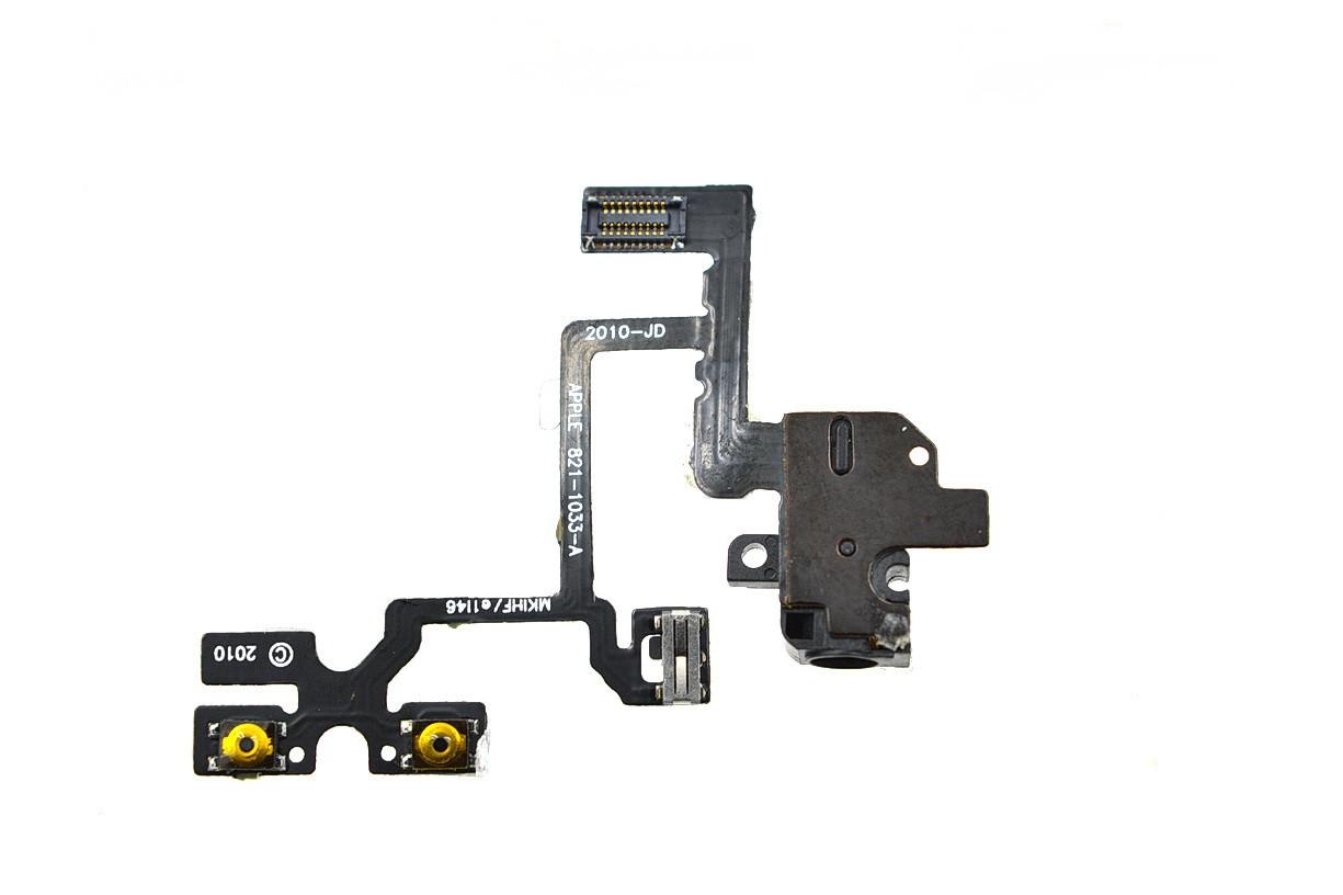 Шлейф Apple iPhone 4G с коннектором гарнитуры (48)