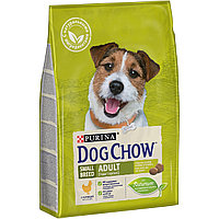 Dog Chow SMALL BREED Adult Сухой корм Purina Dog Chow для взрослых собак мелких пород, курица, пакет, 2,5 кг