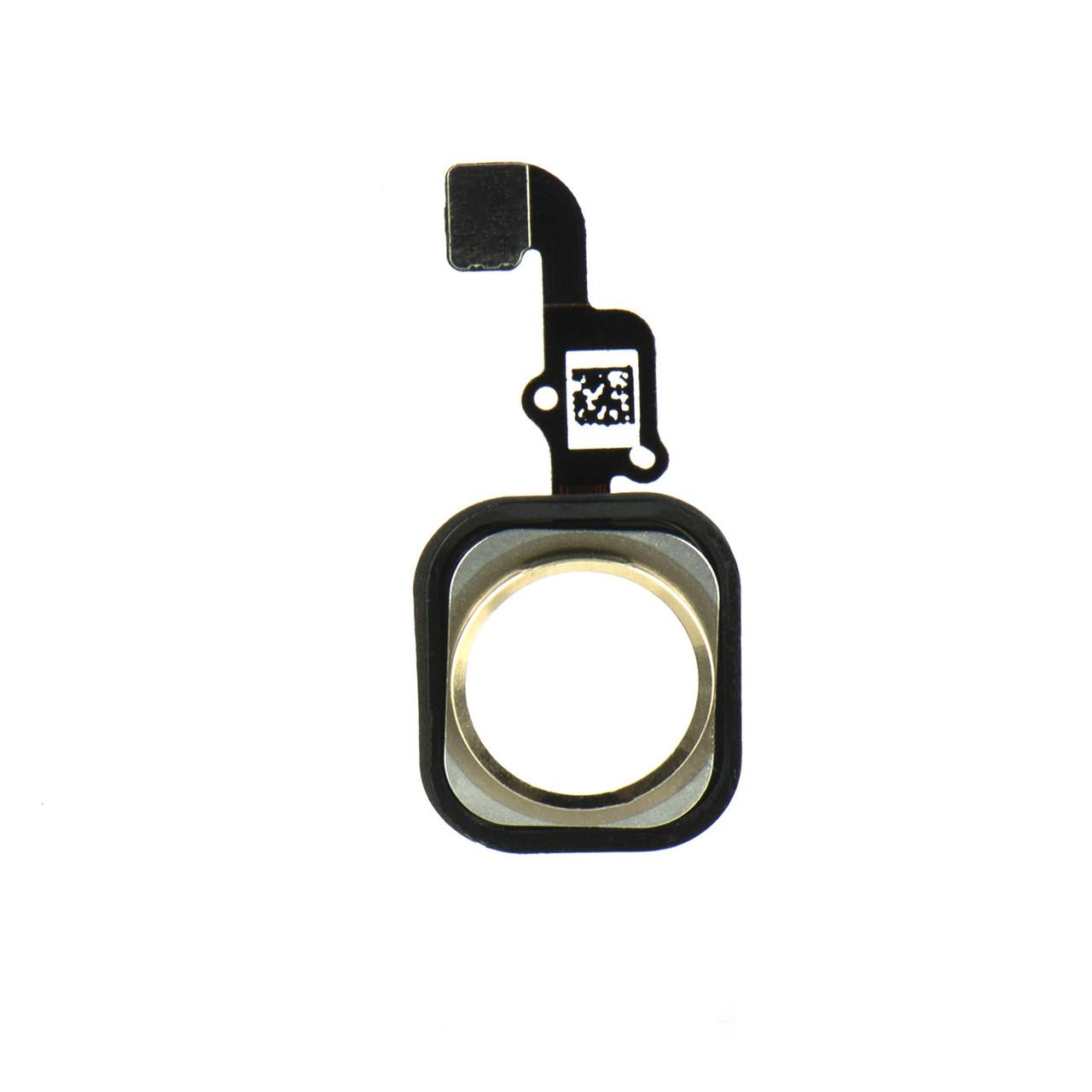 Шлейф Apple iPhone 6G на кнопку home White/Gold (50)