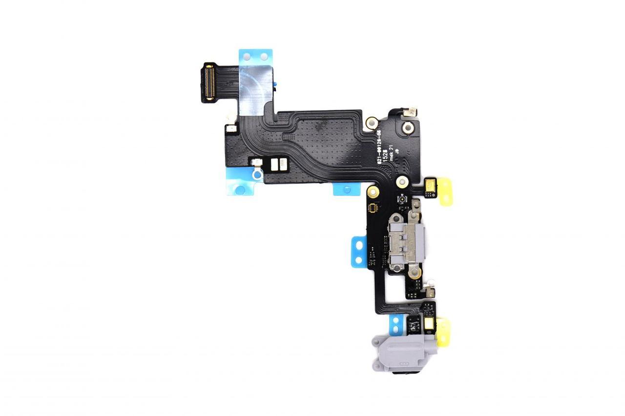Шлейф Apple iPhone 6S Plus с коннектором заряда и разъемом гарнитуры Gray (50)