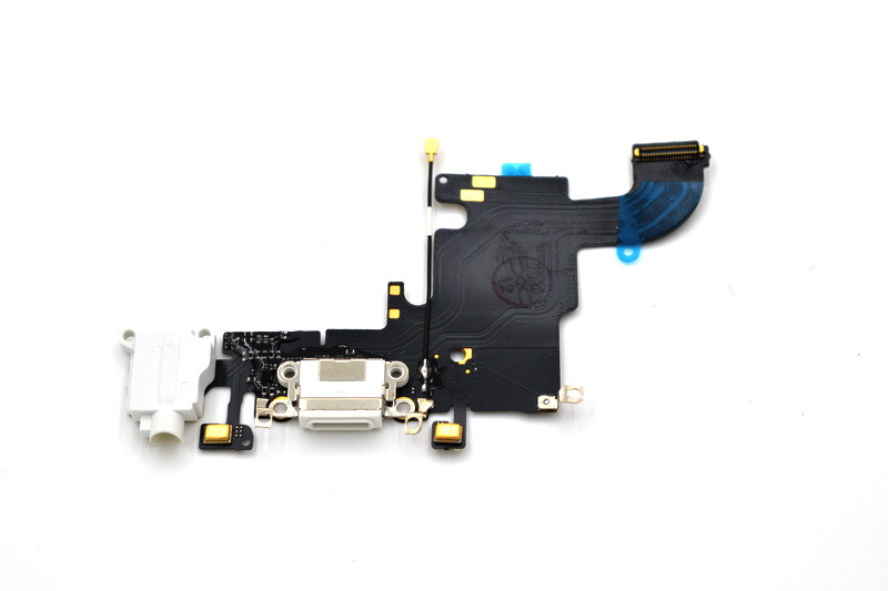 Шлейф Apple iPhone 6S с коннектором заряда и разъемом гарнитуры White (50)