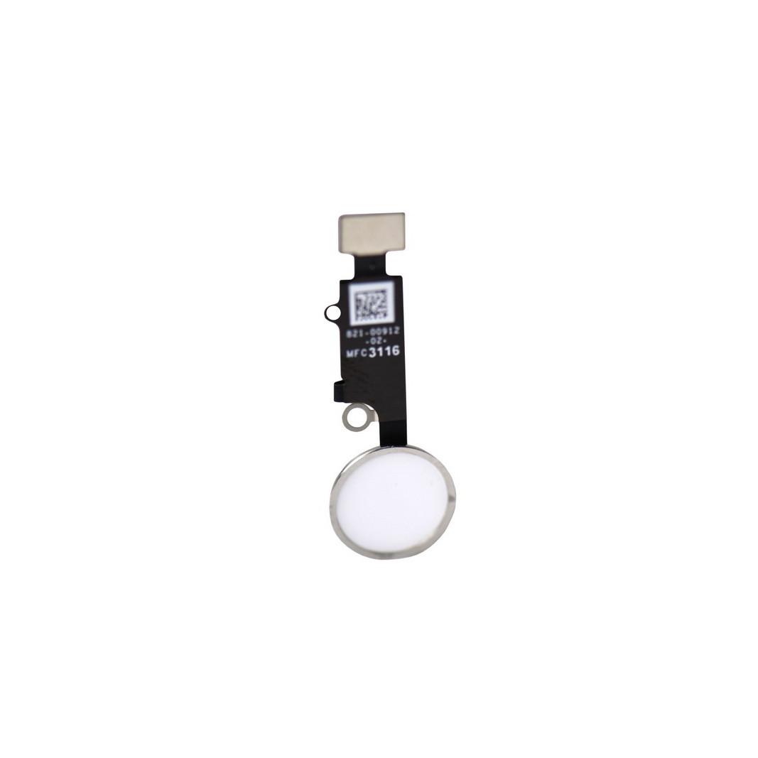 Шлейф Apple iPhone 7/7 Plus на кнопку home White/Silver