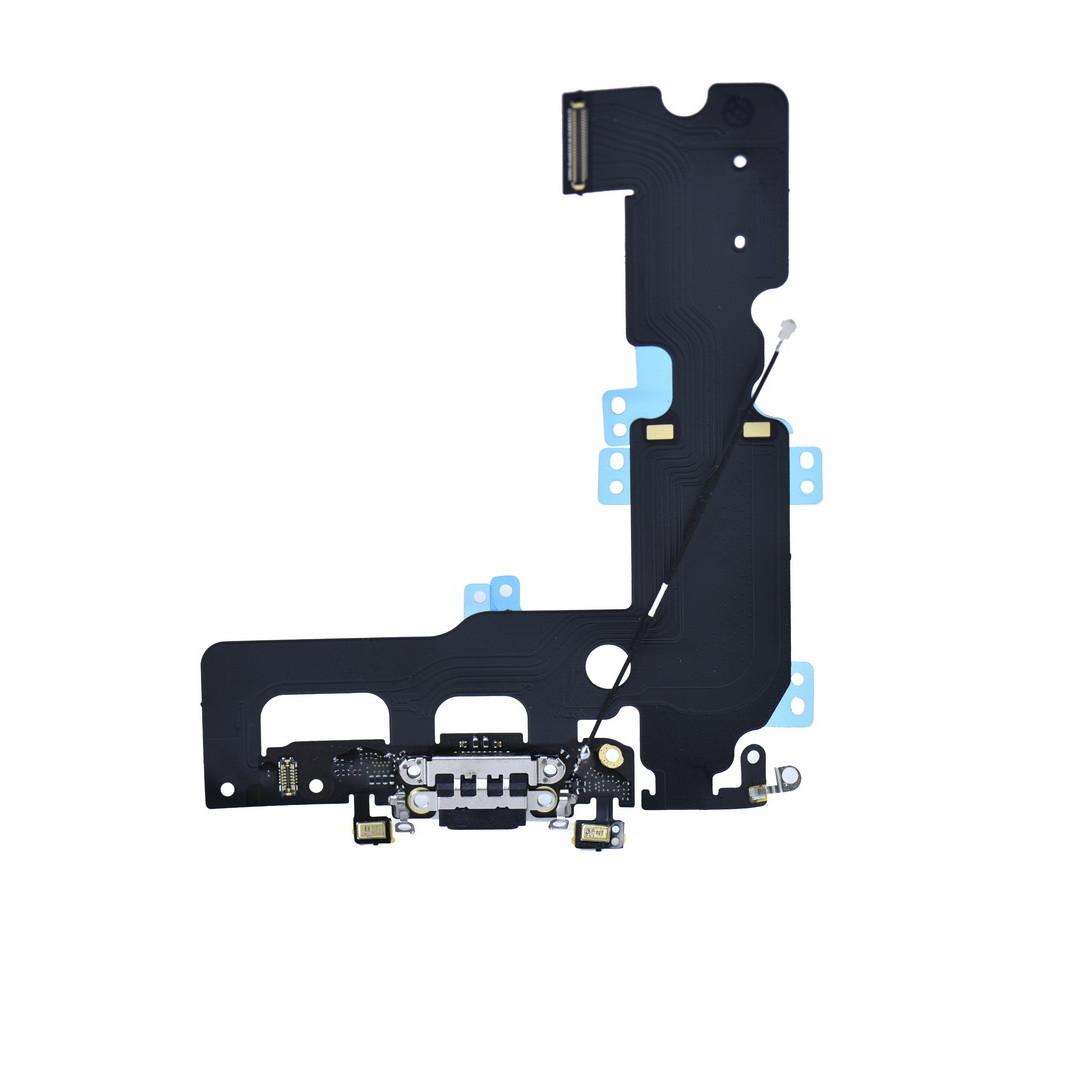 Шлейф Apple iPhone 7G Plus с коннектором заряда и разъемом гарнитуры Black (50)