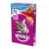 "Whiskas Подушечки с паштетом ""Говядина"" сухой корм для стерилизованных кошек 350 гр"