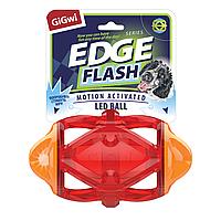 GIGWI Игрушка для собак EDGE FLASH SERIES Регби мяч светящийся 15 см 75479