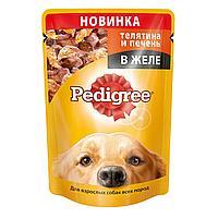 Pedigree Телятина и Печень в желе (Паучи для взрослых собак, в желе) 85г