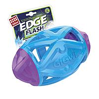 GIGWI Игрушка для собак EDGE FLASH SERIES Регби мяч светящийся 18 см 75512